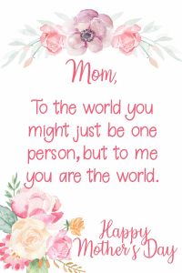 Mother's Day Pink Printable