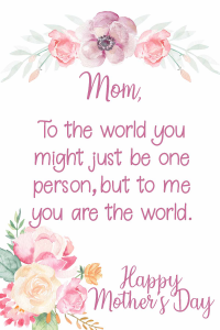 Mother's Day Purple Printable